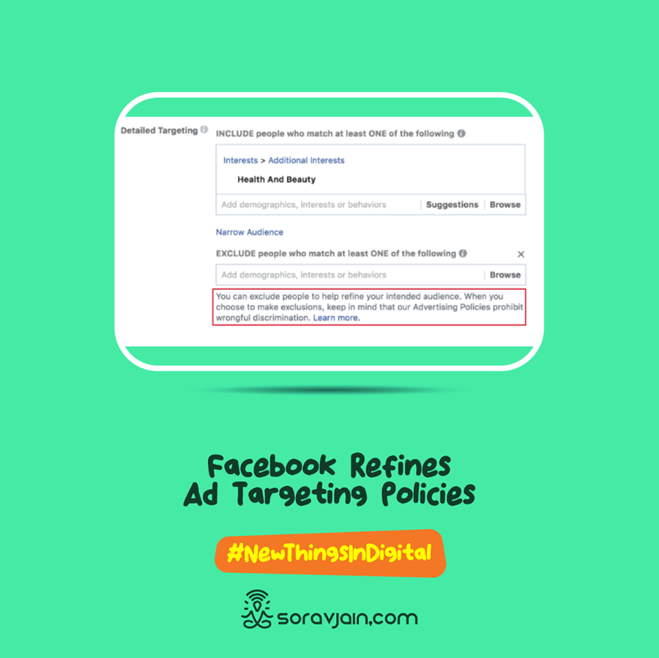 Facebook Refines Ad Targeting Policies