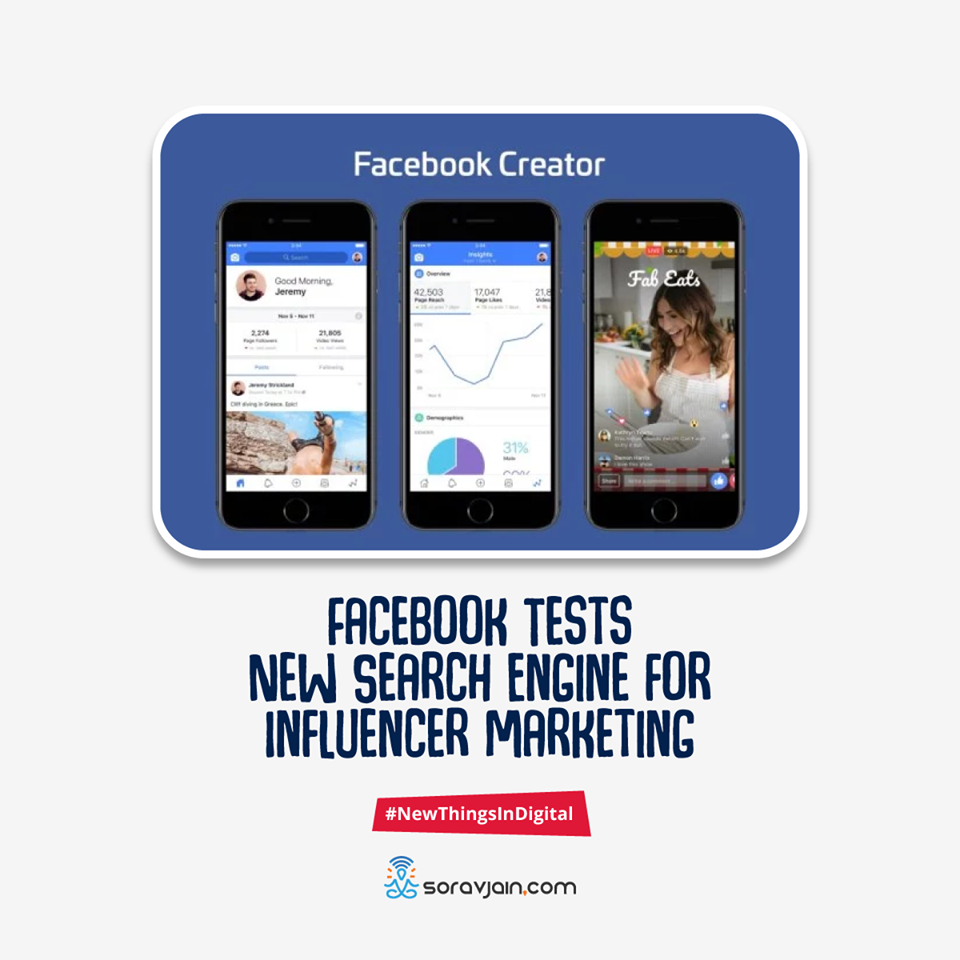 Facebook Tests New Search Engine for Influencer Marketing