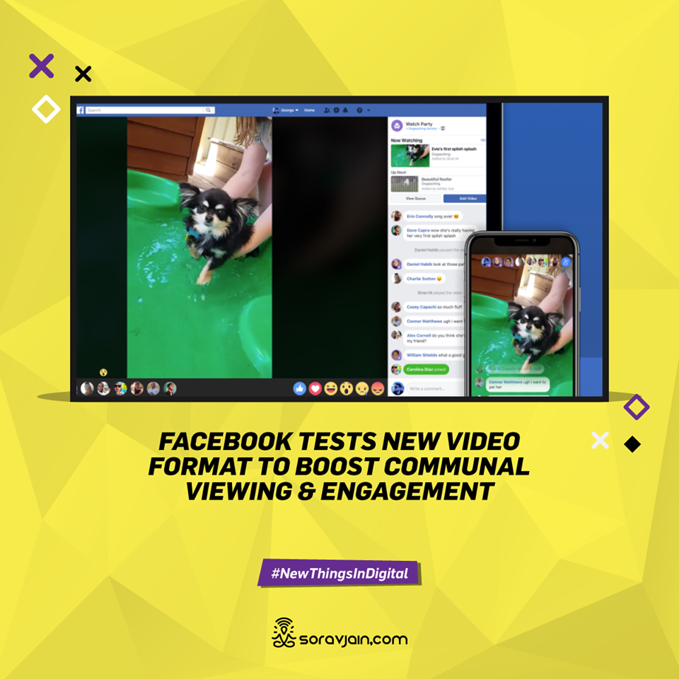 Facebook Tests New Video Format to Boost Communal Viewing & Engagement