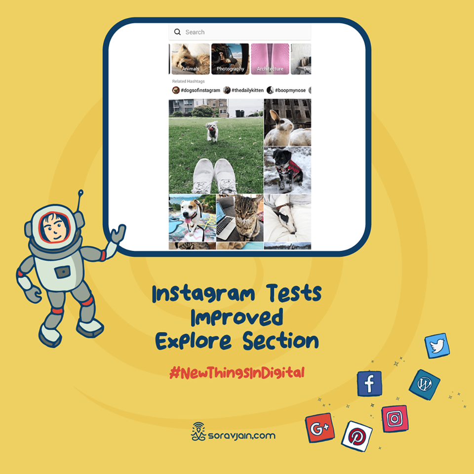 Instagram Tests Improved Explore Section