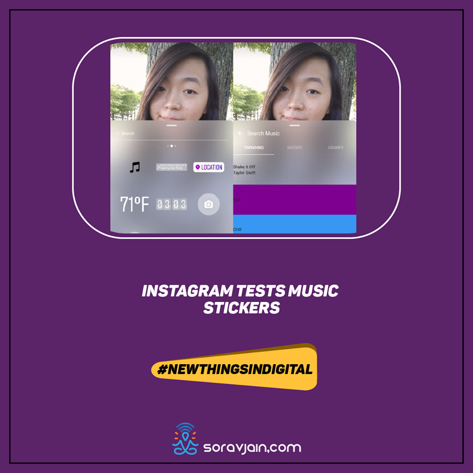 Instagram Tests Music Stickers