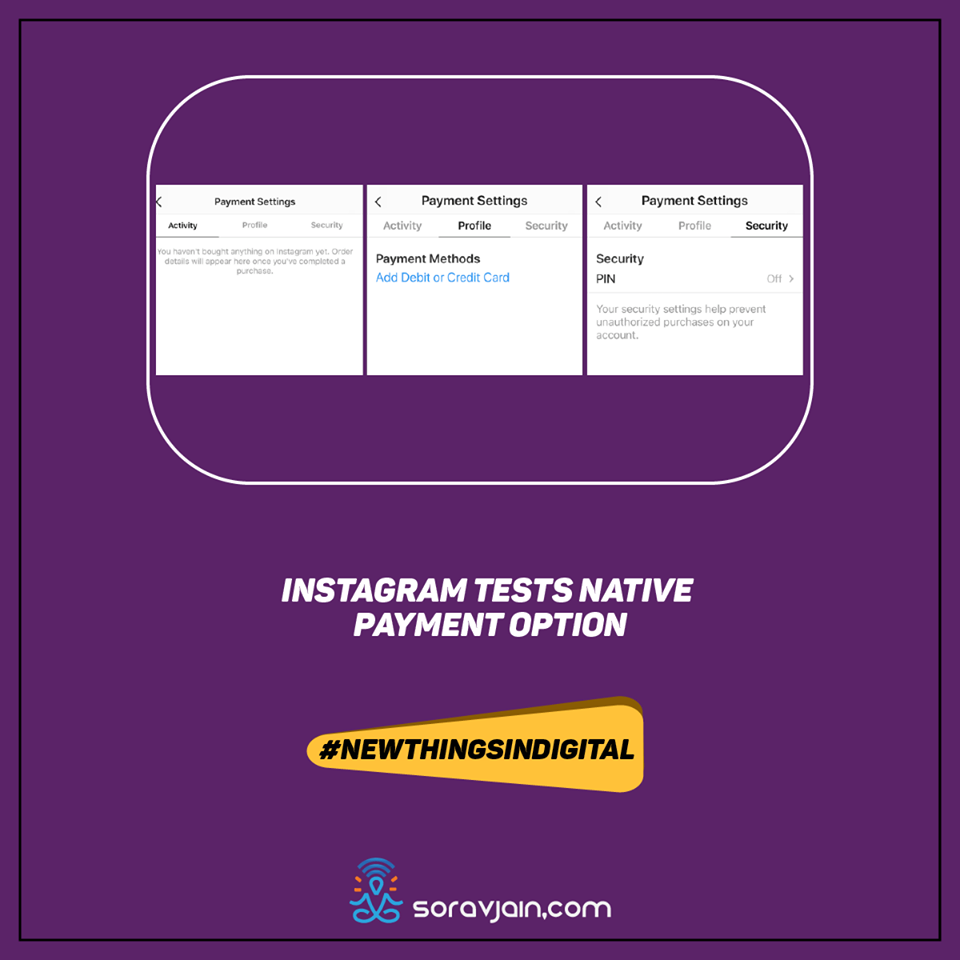 Instagram Tests Native Payment Option