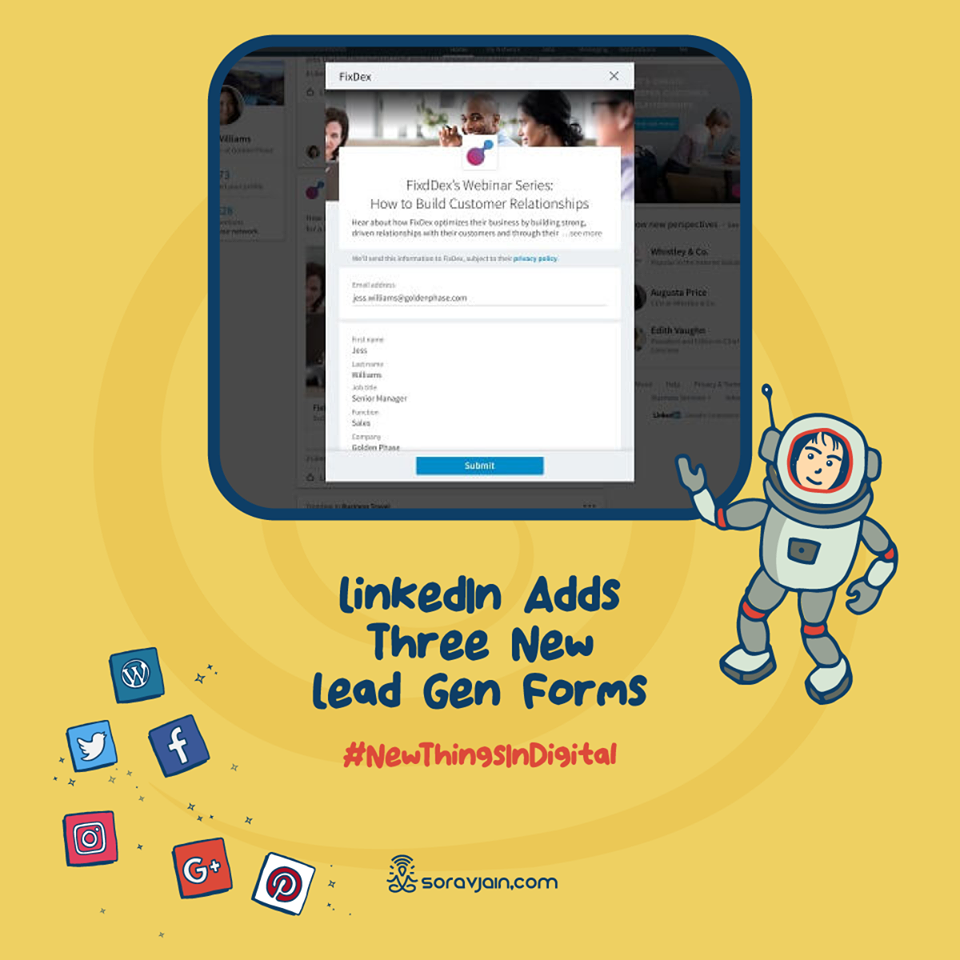 LinkedIn Adds Three New Lead Gen Forms