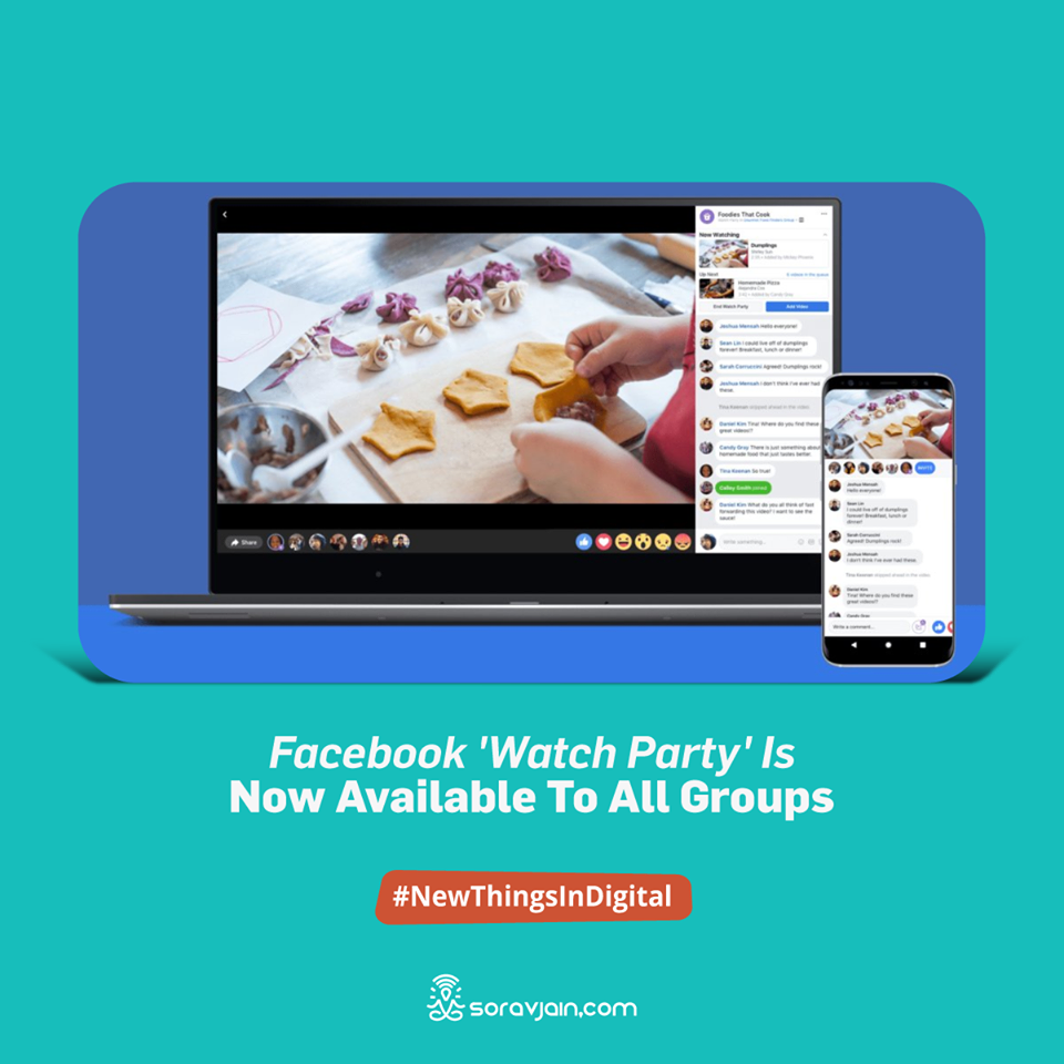 Facebook 'Watch Party' is Now Available to All Groups