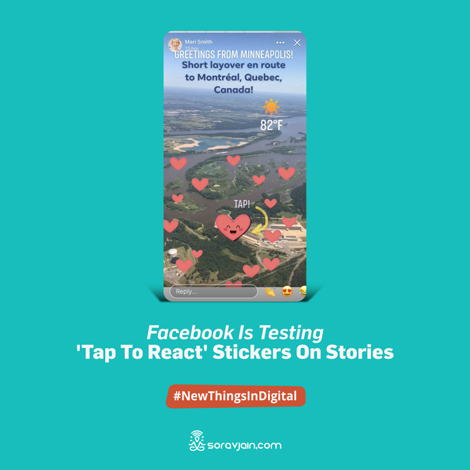 Facebook is Testing 'Tap to React' Stickers on Stories