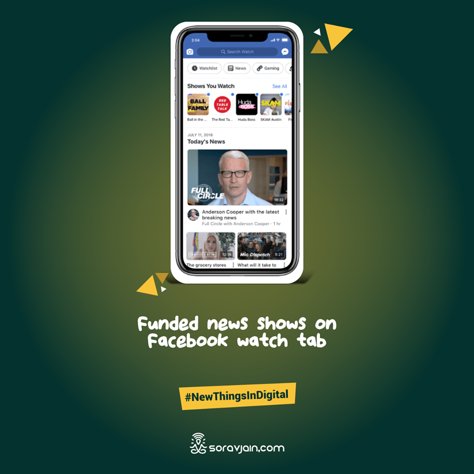 Funded News Shows on Facebook Watch Tab