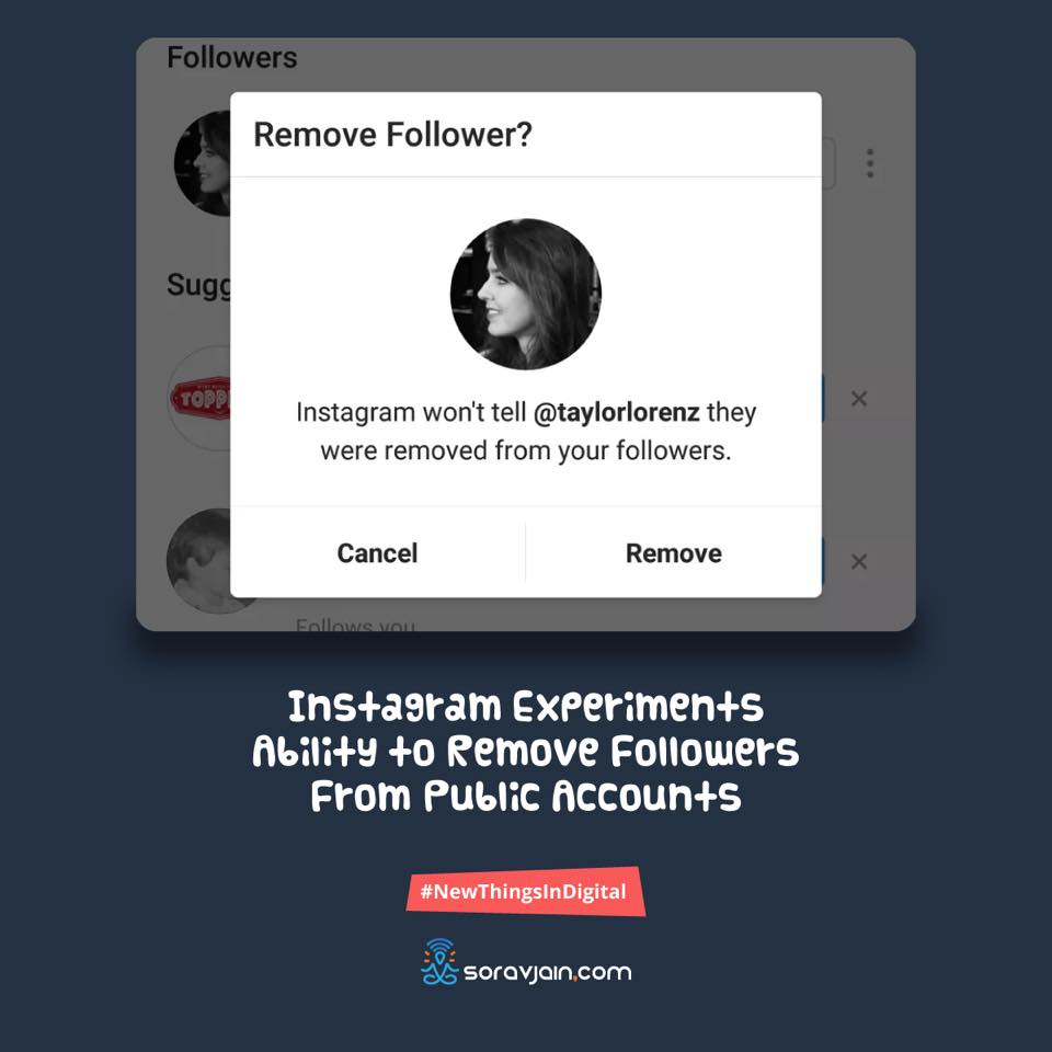 Instagram Experiments Ability to Remove Followers From Public Accounts