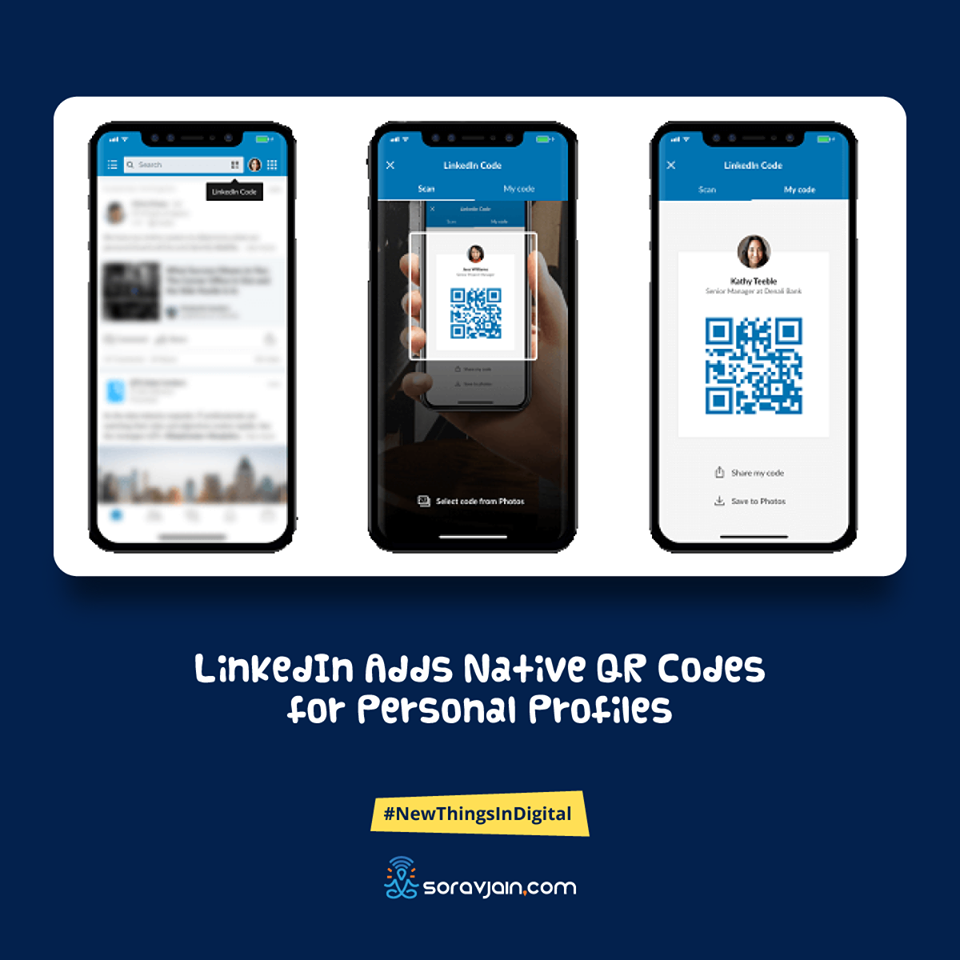LinkedIn Adds Native QR Codes for Personal Profiles