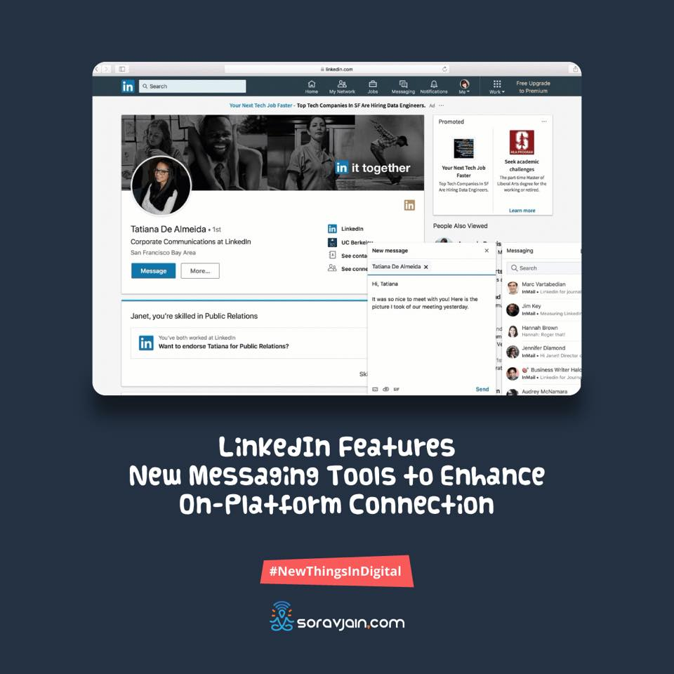 LinkedIn Features New Messaging Tools to Enhance On-Platform Connection