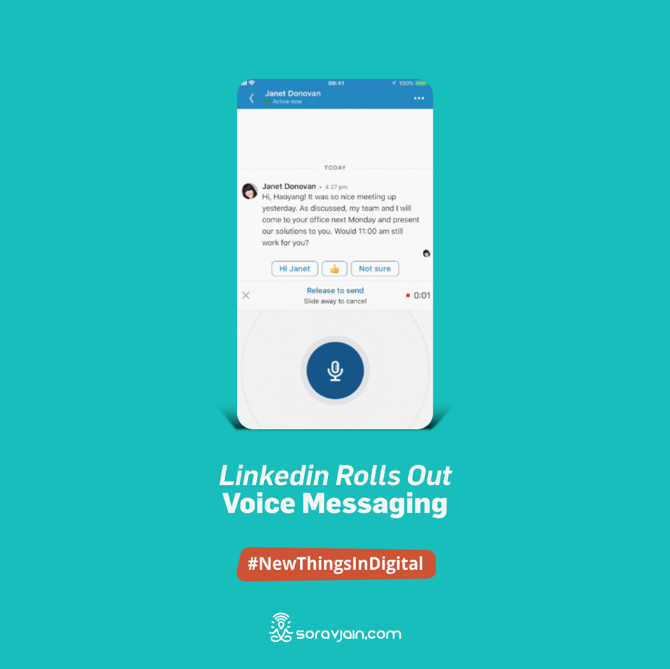 LinkedIn Rolls Out Voice Messaging