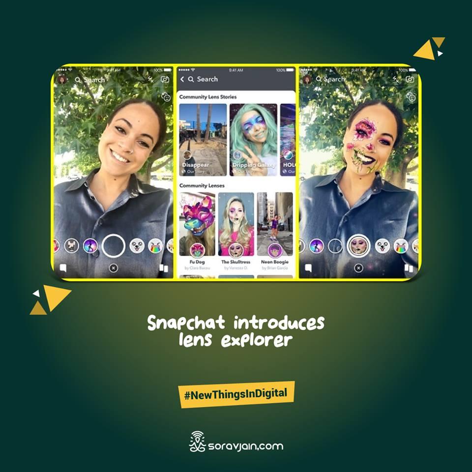 Snapchat introduces lens explorer