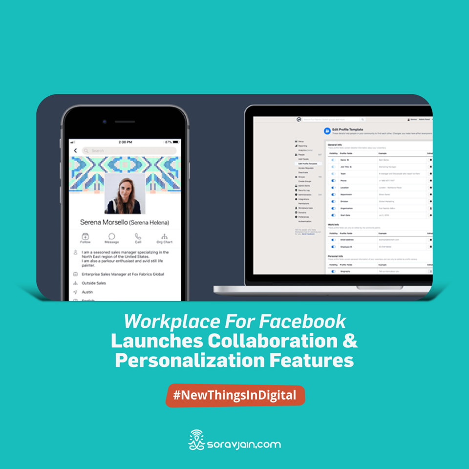 Workplace for Facebook launches collaboration and personalization features