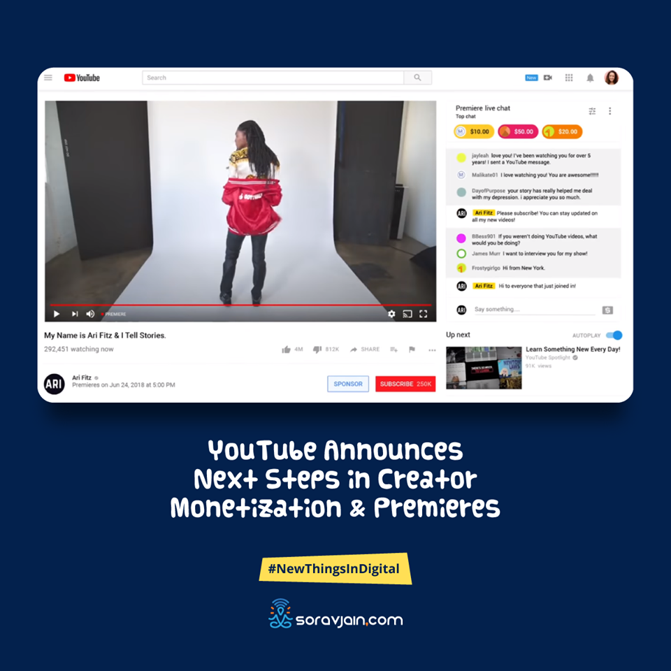 YouTube Announces Next Steps in Creator Monetization and Premieres