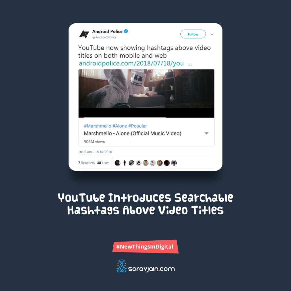 YouTube Introduces Searchable Hashtags Above Video Titles