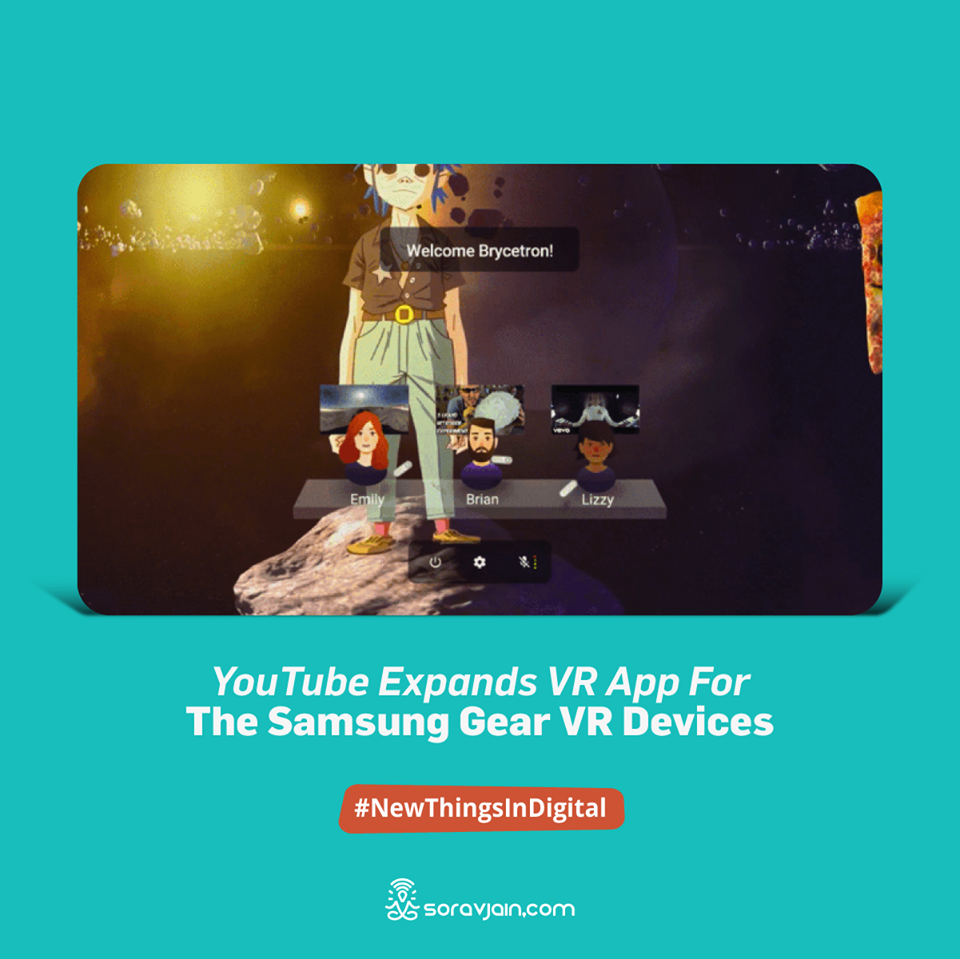 YouTube expands VR App for the Samsung gear VR devices