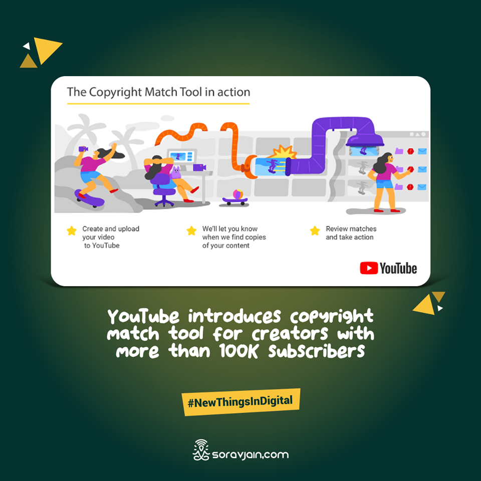 YouTube introduces copyright match tool for creators with more than 100K subscribers