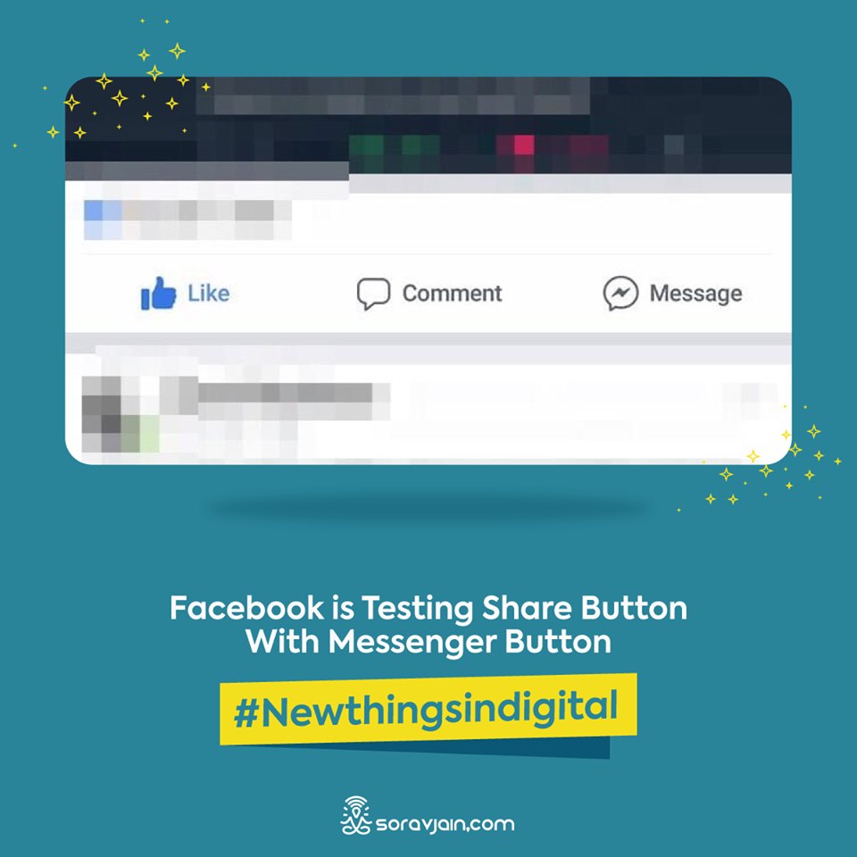 Facebook Is Testing Share Button With Messenger Button