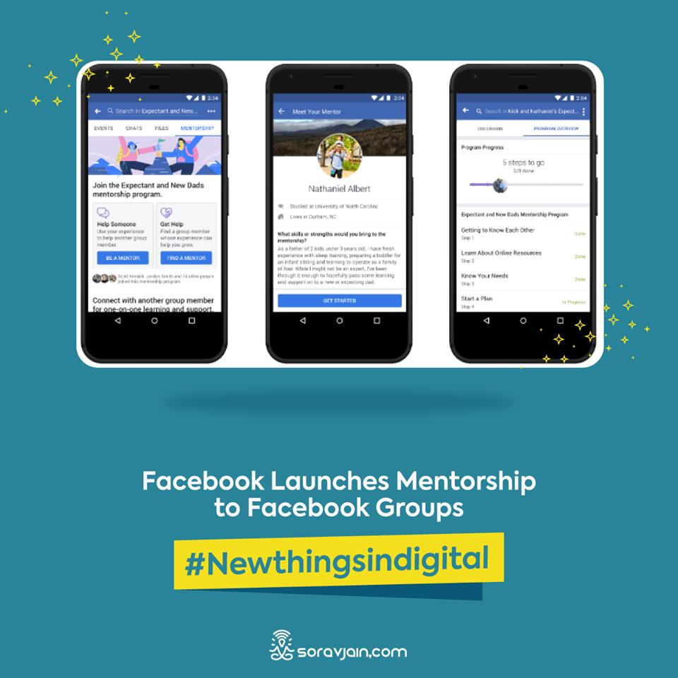 Facebook Launches Mentorship To Facebook Groups