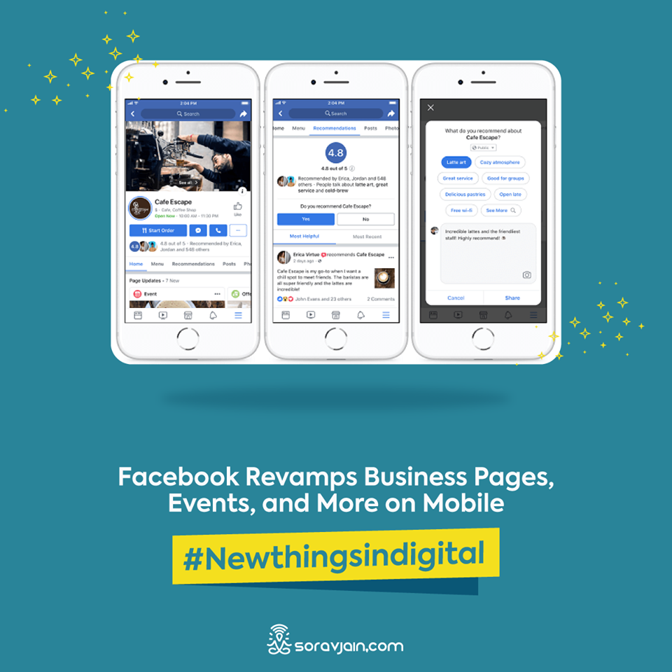 Facebook Revamps Business And Event Pages On Mobile