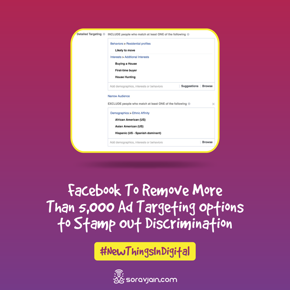 Facebook To Remove Few Ad Targeting Options