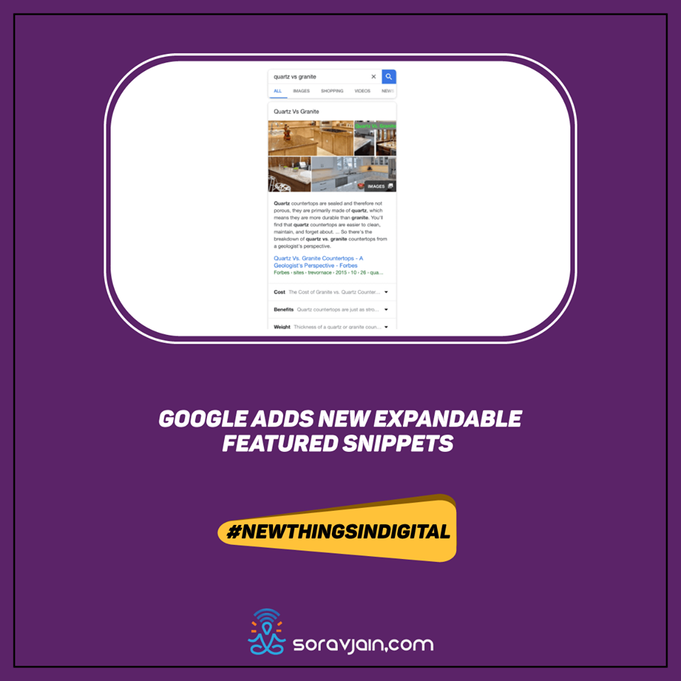 Google Adds New Expandable Featured Snippets