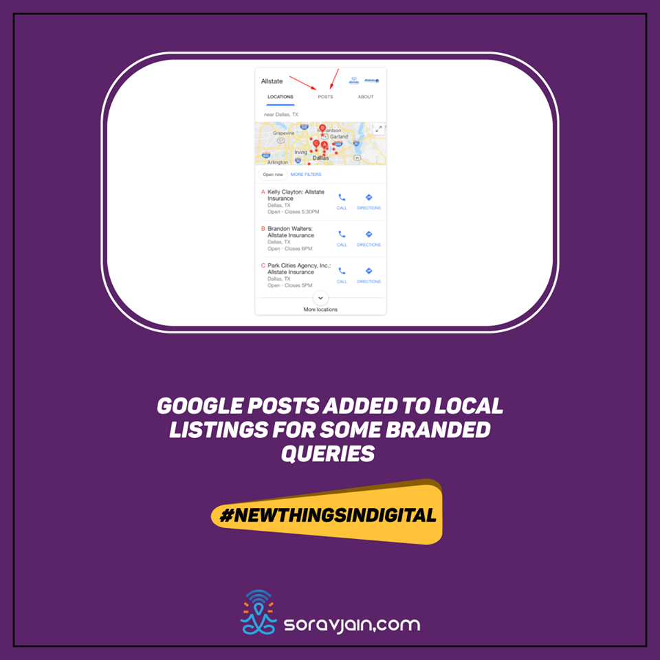 Google Posts Added To Local Listings For Some Branded Queries