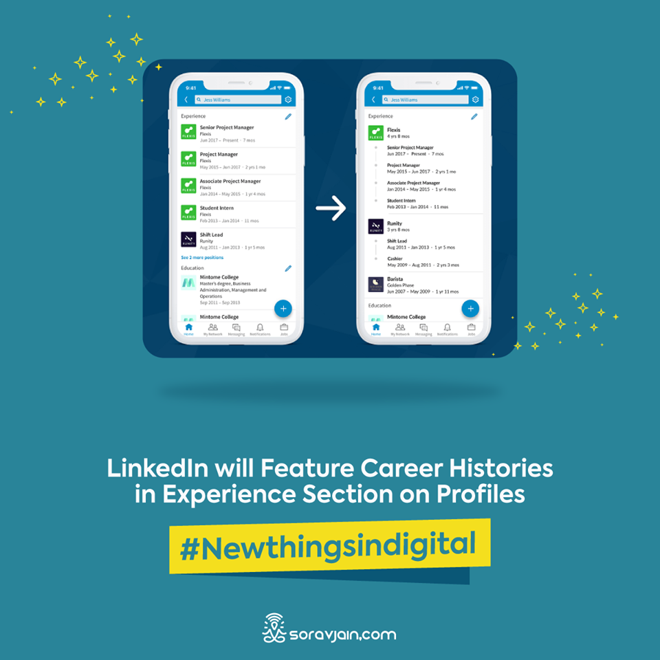 Linkedin Will Feature Career Histories In Experience Section On Profiles
