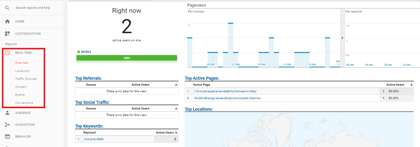 Real Time Tracking In Google Analytics