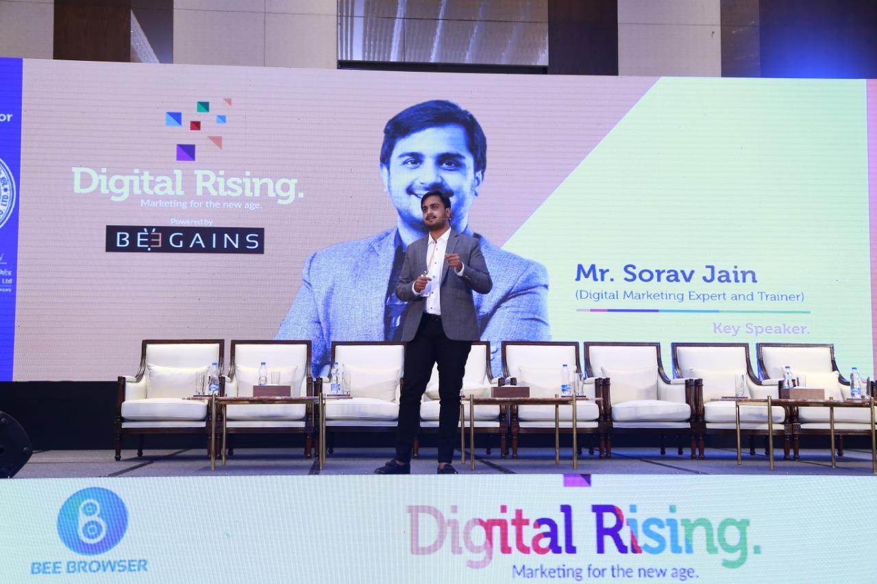 Sorav Speaking At Digital Rising By Beegains