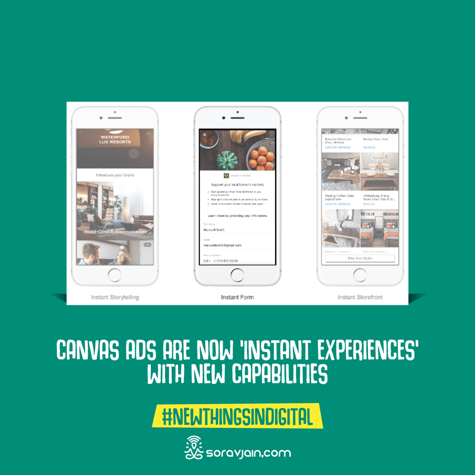 Canvas Ads Are Now 'Instant Experiences' With New Capabilities