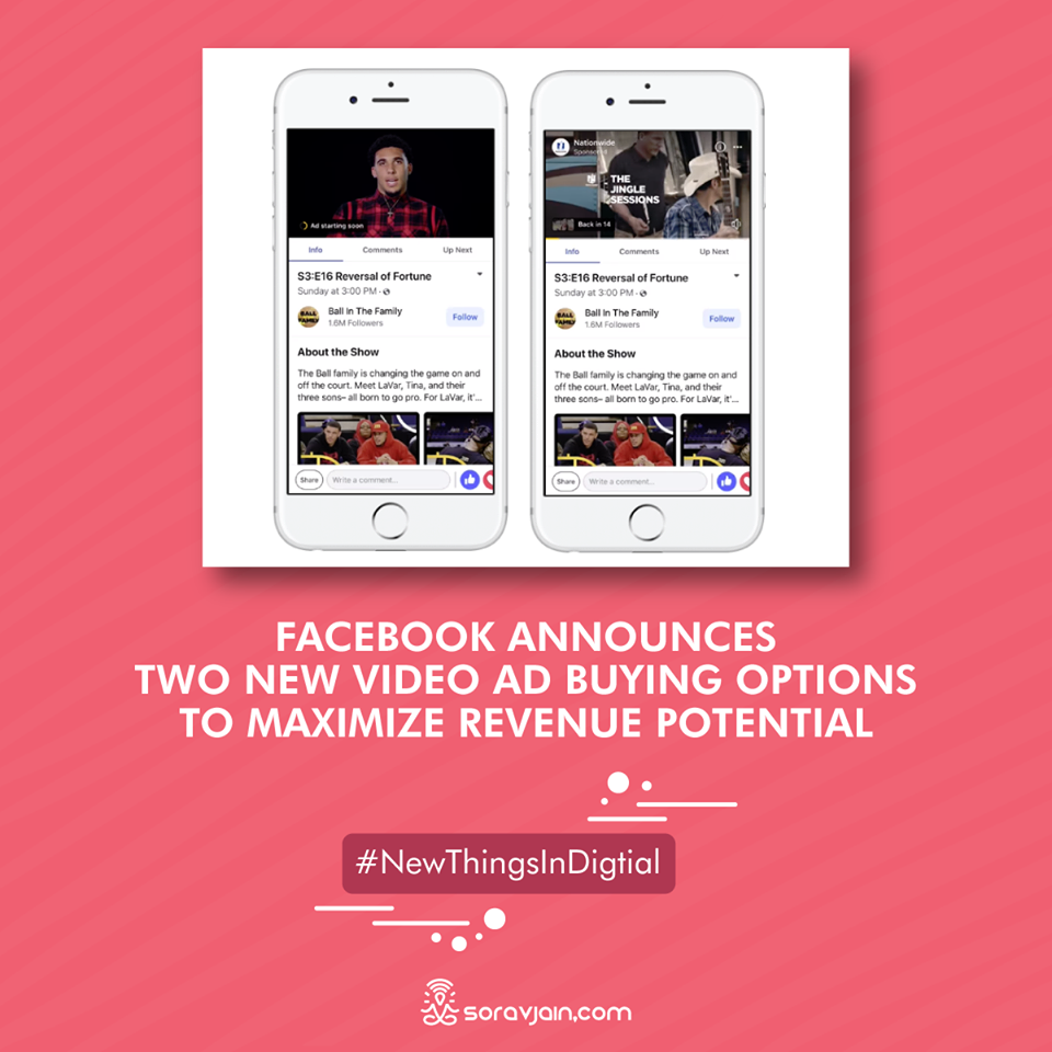 Facebook Announces Two New Video Ad Buying Options to Maximize Revenue Potential