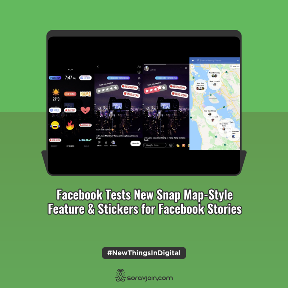 Facebook Tests New Snap Map-Style Feature & Stickers for Facebook Stories