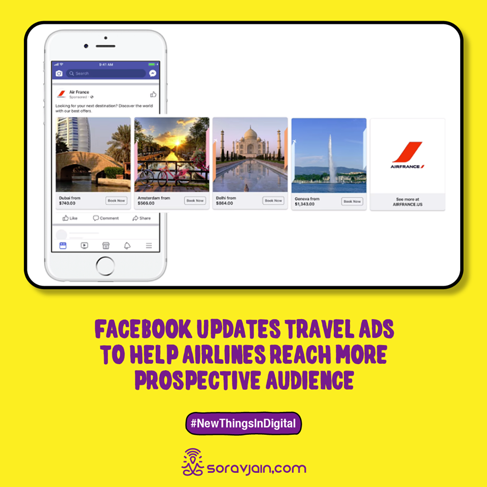 Facebook Updates Travel Ads to Help Airlines Reach More Prospective Audience