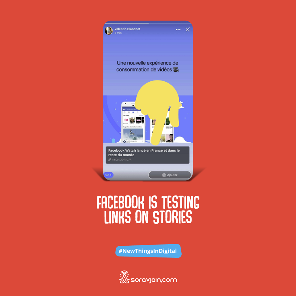You can now add links to Facebook. This could be beneficial for brands trying to drive traffic to their desired pages. And with Pages and publishers losing organic reach and referral traffic due to Facebook's algorithm shifts, they're looking for every way they can to counter such losses. These links on Stories could be one such attempt.