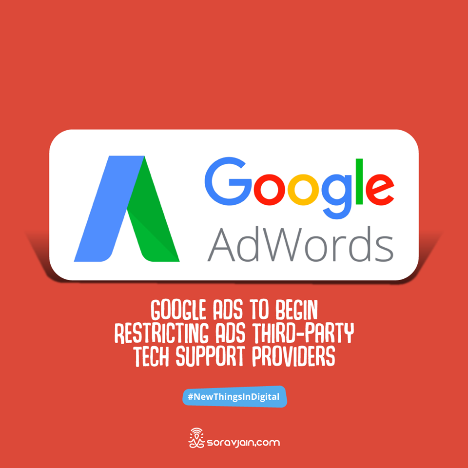 Google Ads to Begin Restricting Ads Third-party Tech support Providers
