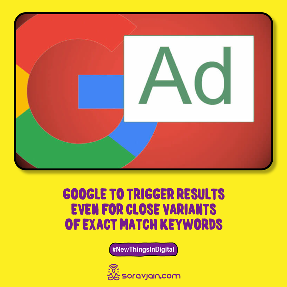 Google to Trigger Results Even for Close Variants of Exact Match Keywords