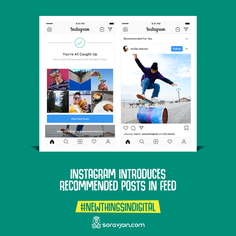 Instagram Introduces Recommended Posts in Feed