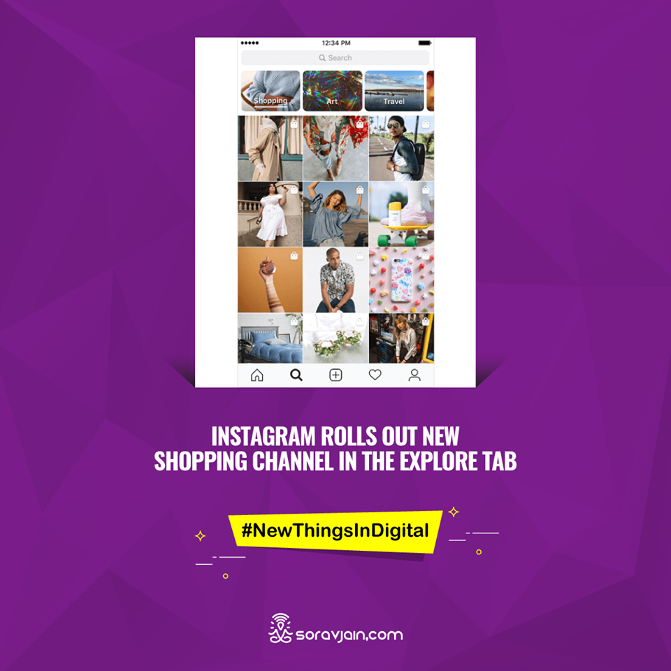 Instagram Rolls Out New Shopping Channel in The Explore Tab