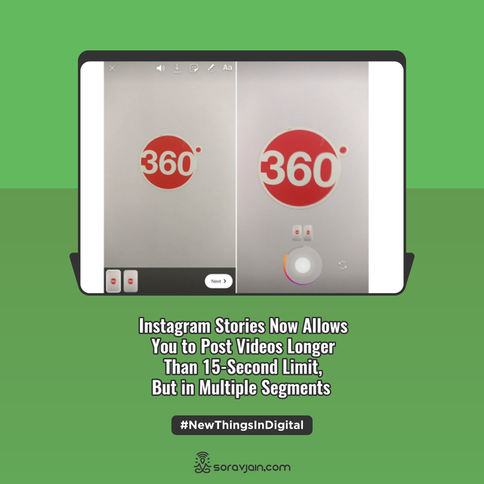 Instagram Stories Now Allows You to Post Videos Longer Than 15-Second Limit, But in Multiple Segments