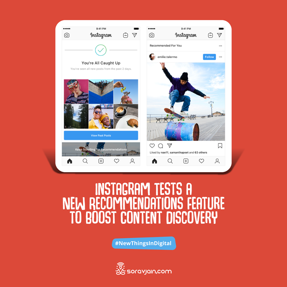 Instagram Tests a New Recommendations Feature to Boost Content Discovery