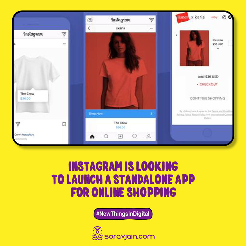 Instagram is Looking to Launch a Standalone App for Online Shopping