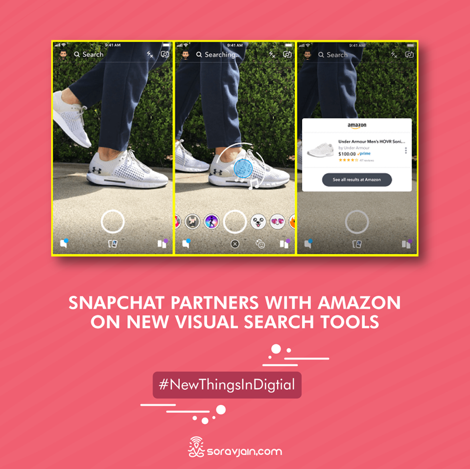 Snapchat Partners With Amazon on New Visual Search Tools