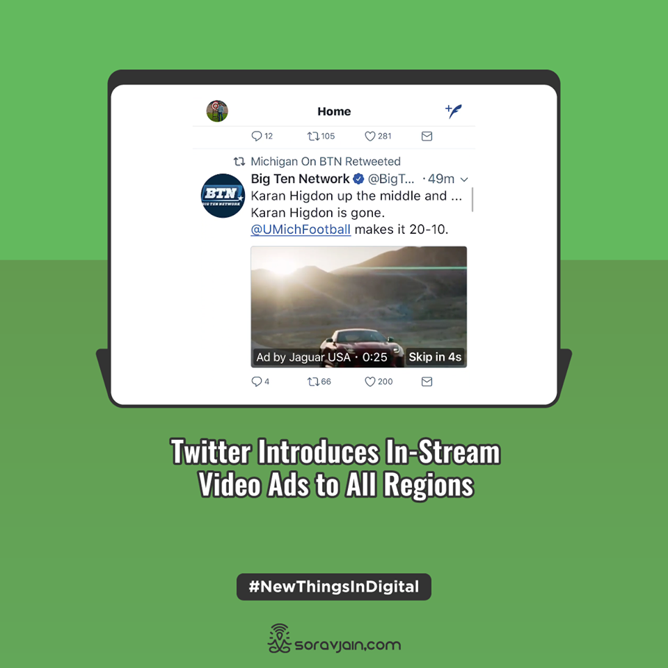 Twitter Introduces In-Stream Video Ads to All Regions