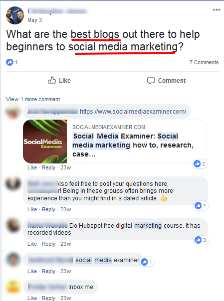 right facebook group