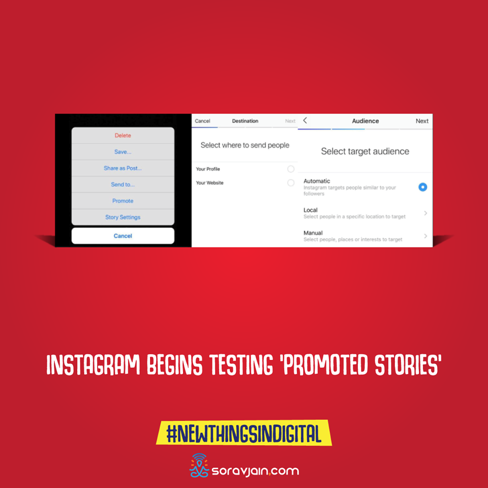 Instagram Begins Testing 'Promoted Stories'