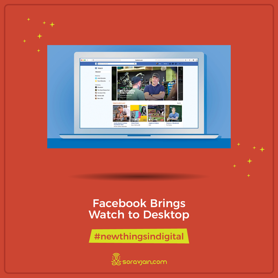 Facebook Brings Watch to Desktop