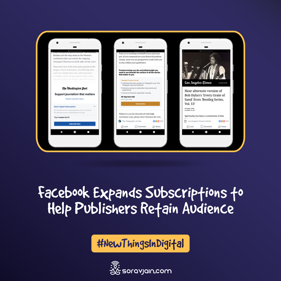Facebook Expands Subscriptions to Help Publishers Retain Audience?