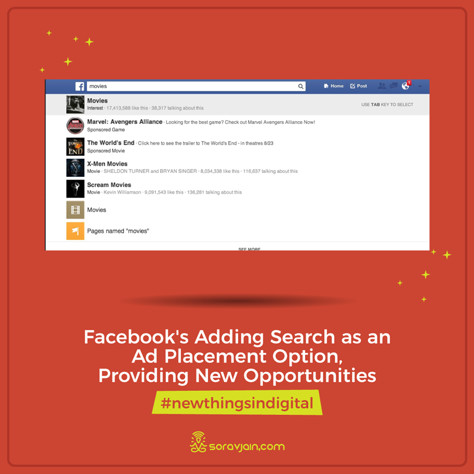 Facebook's Adding Search as an Ad Placement Option, Providing New Opportunities??