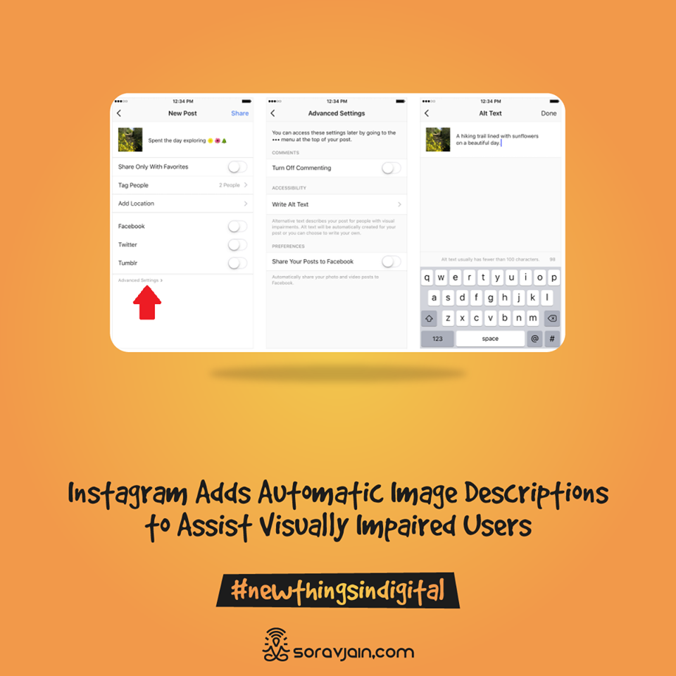 Instagram Adds Automatic Image Descriptions to Assist Visually Impaired Users