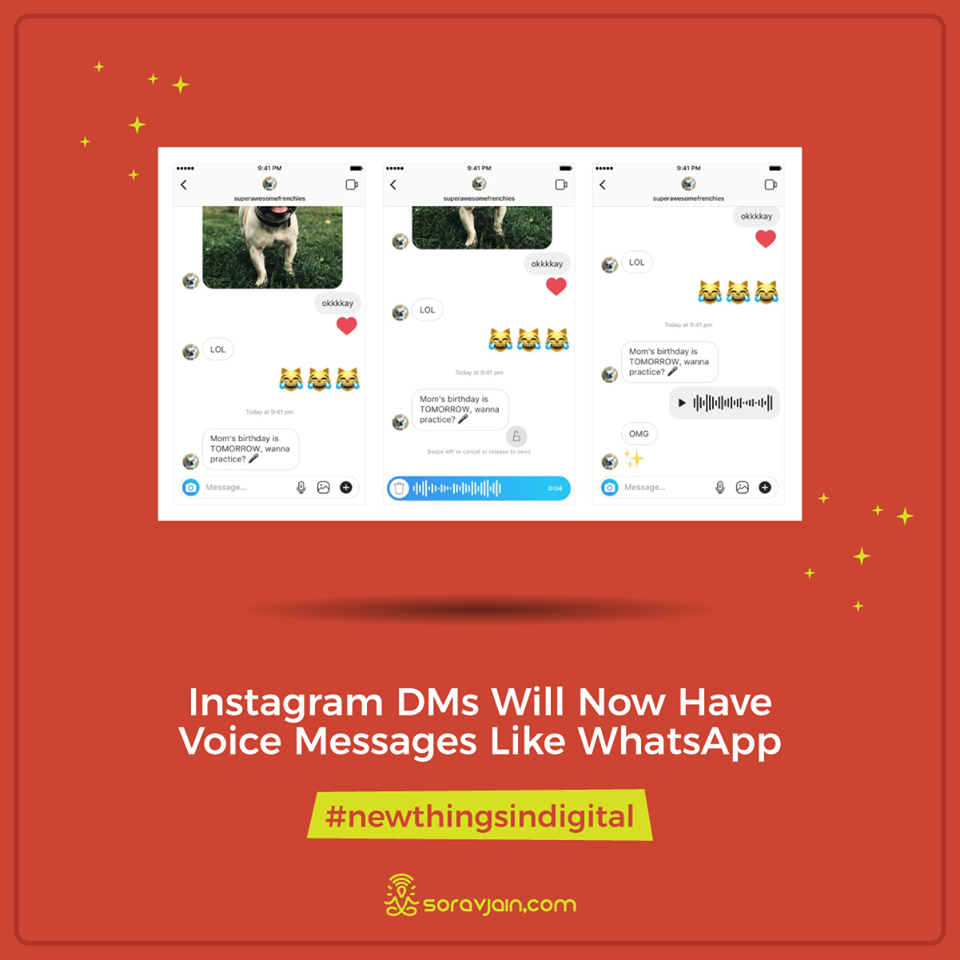 Instagram DMs Will Now Have Voice Messages Like WhatsApp